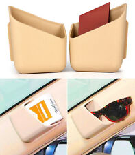 1 Pair Beige Car Auto Accessories Universal Phone Organizer Storage Holder Box