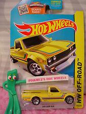 htf 2015 Hot Wheels DATSUN 620 pickup truck #125∞Kmart Exclusive YELLOW ; 5sp∞