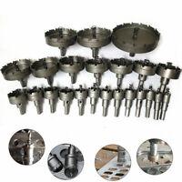 15-50mm Ensemble Carbure Pointe TCT Foret Scie Cloche pour Inox Acier Métal