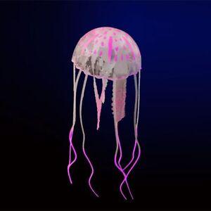 Mini Artificial Jellyfish Glowing Effect Ornament Fish Tank Aquarium Decor