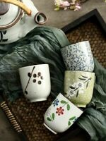 Traditional Ceramic Teacup Chinese Style Hand Painted Small & Large Coffee Mugs