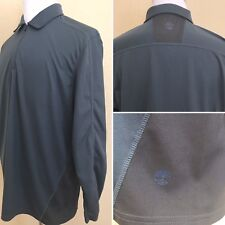 TIMBERLAND 1/4 Zip L/S Mens Pullover Shirt XL Gray Training Outdoor Polyester