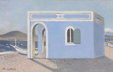 Paul Nash incorniciato stampa-Casa Blu SULLA RIVA (picture pittura Replica Art)