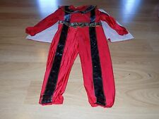 Size XXS 2-3 Disney Store Red Ranger Power Rangers Halloween Costume w Cape GUC