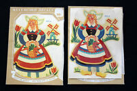 2 PC DUTCH VINTAGE DEADSTOCK 1940'S MEYERCORD DECALS