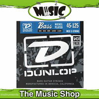Dunlop 45-125 5 String Nickel Wound Bass Guitar Strings - Long Scale - New