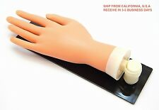 PRACTICE MANNEQUIN HAND FLEXIBLE FINGER NAILS WITH ACRYLIC BOARD