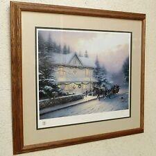 THOMAS KINKADE Placerville Victorian Christmas IV #724/2950 LE LITHOGRAPH w/ COA