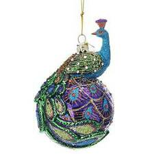 Noble Gems™ Peacock Glass Ball Ornament w