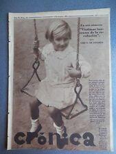 REVISTA CRÓNICA REVOLUCIÓN CATALUÑA MADRID  04/11/1934 AMPLIOS REPORTAJES