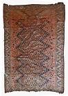 Handmade antique Uzbek Beshir rug 5.7' x 7.7' (174cm x 275cm) 1900s - 1B534