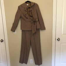 Bloomingdales Plaid Pantsuit Size 8