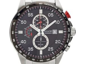 Mens New Accurist Very Stylish Steel Chrono Watch 100m MB1028R RP £199.99