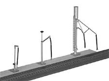Stewart Products # 103 Diesel Sand Tower, Fuel & Water Column Kit HO MIB