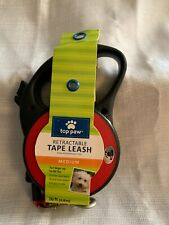 Top Paw Medium Tape Style Retractable Leash RED 16ft, Up To 80lbs. NEW!!