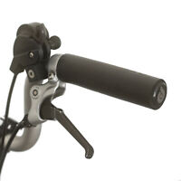 Soft Silicone M/H/S Grips + Handlebar Plugs for BROMPTON Black