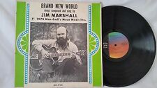 JIM MARSHALL - BRAND NEW WORLD - RARE 1978 MARSHALL'S MUSE MUSIC INC. - SIGNED