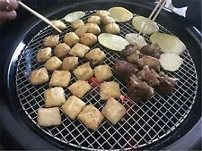 Round Barbecue Grill Net Stainless Steel Mesh Racks Grid Camping Kit