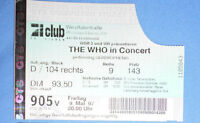 The Who Ticket Autogramm Dortmund 1997 signed autograph Quadrophenia Beatles