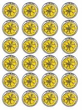 24 X STONE ROSES BAND LEMON WAFER PAPER CUP CAKE TOPPERS