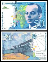 France, 50 francs, 1993, P-157b  pre-Euro, /  Exupery, Airplane