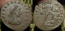 MRTWN ARCADIVS AE2 Heraclea 395AD Arcadius + Arcadius w/Labarum + Captive HGRADE