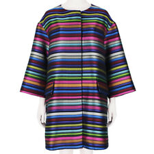 Mary Katrantzou Multicoloured Striped Pencils Jaquard Coat L UK12 IT44