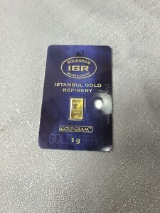 1 Gram Gold Bar Istanbul Gold Refinery Sealed Assay Certified 999.9 Fine Gold