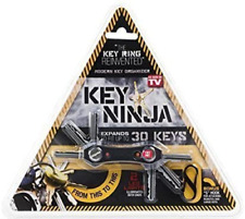 Key Ninja Organizer with 30 Key Chains Rings Dual LED Lights and Inbuilt Bottle Opener