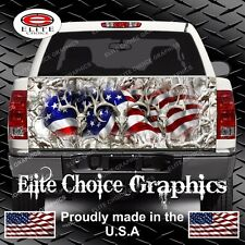 American Buck Camo Snow Truck Tailgate Wrap Vinyl Graphic Decal Sticker Wrap