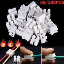 50/100X Quick Splice Electrical Cable Connector Lock Wire Terminals Self Lock
