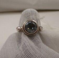 LORI BONN .925 Sterling Silver Round TOPAZ Gemstone Ring Size 6