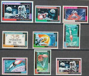 Grenada 1969 Sc 328-336 Man's first moonlanding (Apollo 11) **