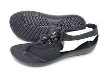 Crocs Serena Embellished Flip Flop Sandals Women's Size 10 Black