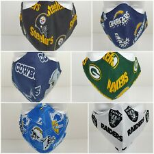 NFL Raiders Cowboys Steelers Chargers Reusable Face Mask w/optional PM2.5 Filter