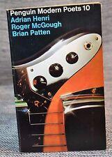 Penguin Modern Poets 10 Adrian Henri, Roger McGough, Brian Patten Mersey 1974
