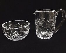 Waterford Crystal KERRY Ireland Gothic Signed Open Sugar and Creamer
