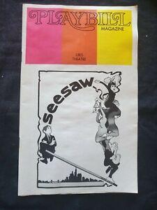 PLAYBILL June 1973 Uris Theatre Seesaw