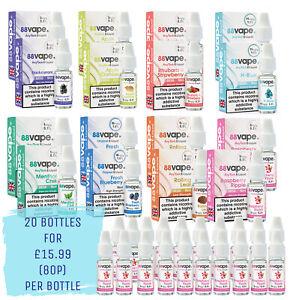 20 Pack - 88Vape Anytank Any Pen E-liquids 10ml Bottles Nicotine Vape Juice