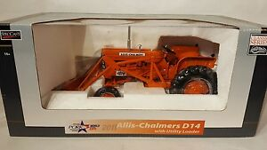Allis Chalmers D14 w/ loader 1/16 diecast farm tractor replica by SpecCast