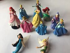 Disney Character Action Figures Lot of 11 Princess Belle Cinderella Tinkerbell