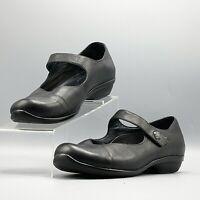 Dansko OPAL Womens Black Leather Mary Jane Slip On Comfort Shoe EU 40 /US 9.5-10