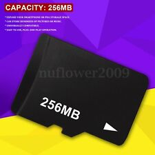 256MB 256M Micro SD TF Flash Memory Card For Android Smartphones Tablets Camera