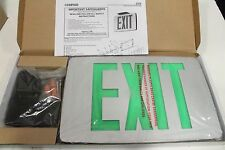 Hubbell Lighting Compass CCEDGE Led Exit Sign w/ Battery Backup Green Lettering