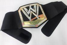 2013 WWE WORLD HEAVYWEIGHT BIG Light LOGO & MUSIC Champion Belt Toy Cena Lesnar