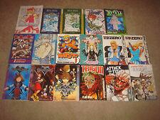 MANGA BOOK LOT Comic Attack on Titan Trigun Kingdom Hearts Death Note Naruto Viz