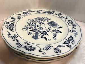 "Blue Danube Blue and White Dinner Plates 10-1/4"" (3 plates)"