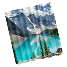 Fabric Bath Shower Curtain with Hooks Ring Bathroom Nature Scenery #2