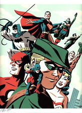 Michael Cho SIGNED DC Comic JLA Art Print Batman Wonder Woman Superman Flash