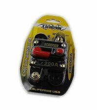 Xscorpion 200 AMP 12 Volt Circuit Breaker Fuse Holder Car Audio Stereo Reset